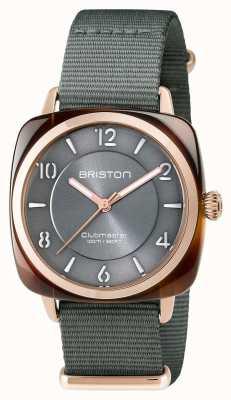 Briston Clubmaster unisex elegancia gris acetato pvd oro rosa 17536.PRA.T.11.NG