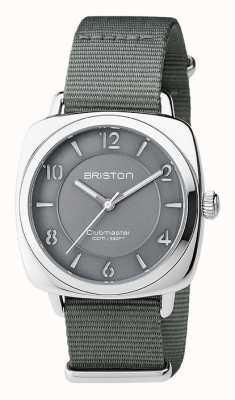 Briston Clubmaster unisex elegante de acero gris con correa de nato 17536.S.L.17.NG