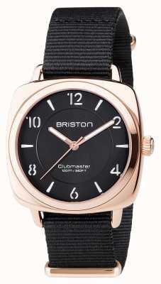 Briston Unisex clubmaster chic negro pvd oro rosa 17536.SPRG.L.1.NB