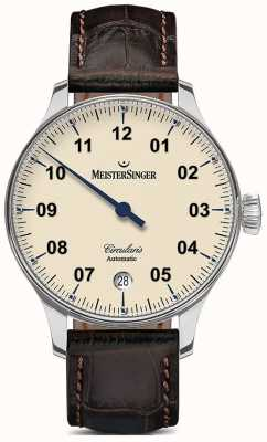 MeisterSinger Mens circularis marfil automático CC903