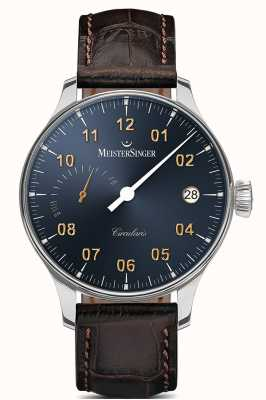 MeisterSinger Hombre circularis power reserve cuerda manual sunburst steel grey CCP317G
