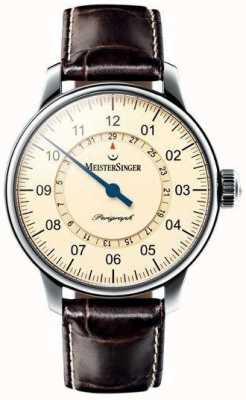 MeisterSinger Hombre clásico plusie perigraph marfil automático AM1003