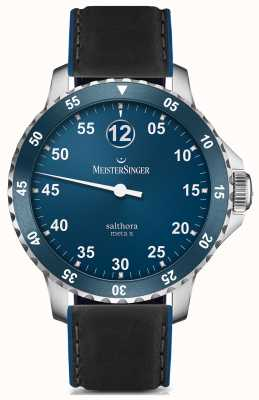 MeisterSinger Hombre clásico más salthora meta x automático azul SAMX908