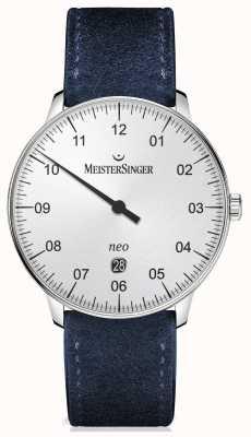 MeisterSinger Forma y estilo de los hombres plata automática NE401