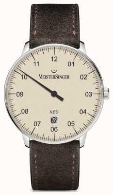 MeisterSinger Forma y estilo de los hombres neo más marfil automático NE403