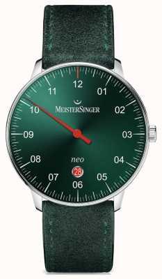 MeisterSinger Forma y estilo del Mens neo más el verde automático del resplandor solar NE409
