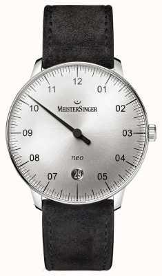 MeisterSinger Forma y estilo para hombre neo automático sunburst silver NE901N