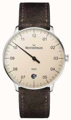 MeisterSinger Forma y estilo de los hombres marfil neo automático NE903N