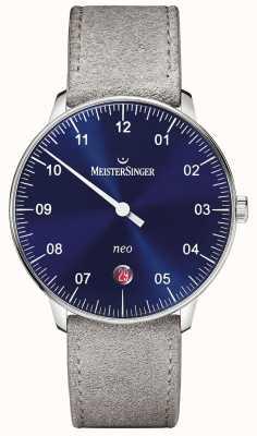 MeisterSinger Forma y estilo de los hombres neo automatic sunburst blue NE908N