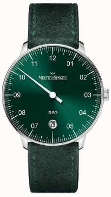 MeisterSinger Forma y estilo de los hombres neo automatic sunburst green NE909N
