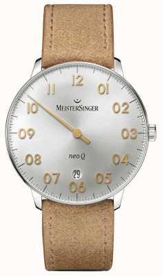 MeisterSinger Forme y estilo para hombre neo q cuarz sunburst silver NQ901GN