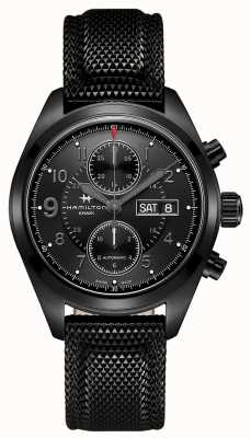 Hamilton Khaki field auto chrono * reloj de tom clancy's jack ryan * H71626735