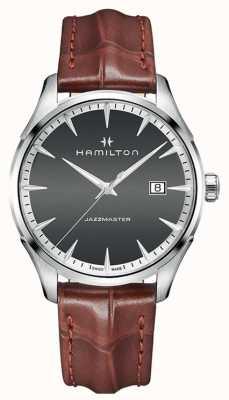 Hamilton Cuero de cuarzo americano classic jazzmaster para hombre H32451581