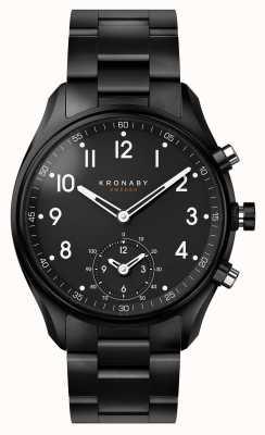 Kronaby 43mm ápice bluetooth negro pvd correa de metal a1000-0731 S0731/1