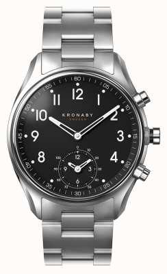 Kronaby 43mm ápice bluetooth acero inoxidable esfera negra smartwatch A1000-1426