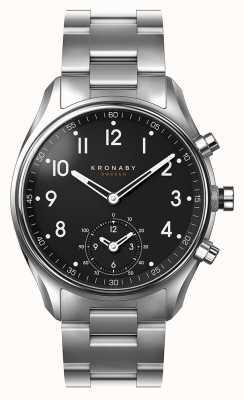 Kronaby Acero inoxidable 43mm ápice esfera negra de acero inoxidable a1000-1426 S1426/1