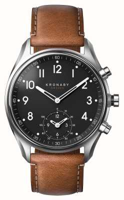 Kronaby 43mm ápice bluetooth cuero marrón smartwatch A1000-0729
