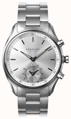 Kronaby 43mm Sekel bluetooth correa de acero inoxidable smartwatch A1000-0715