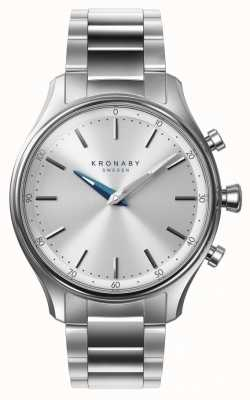Kronaby Pulsera de acero inoxidable bluetooth sekel de 38 mm a1000-0556 S0556/1