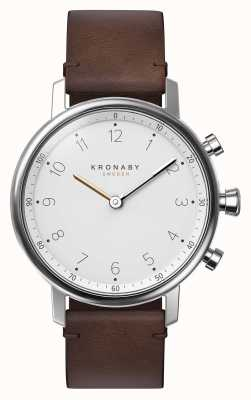 Kronaby 38mm nord bluetooth marrón correa de cuero smartwatch A1000-0711