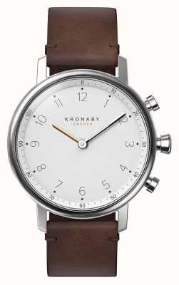 Kronaby Correa de cuero marrón bluetooth nord de 38 mm a1000-0711 S0711/1