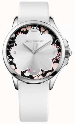 Juicy Couture Correa de silicona blanca Jetsetter para mujer 1901568