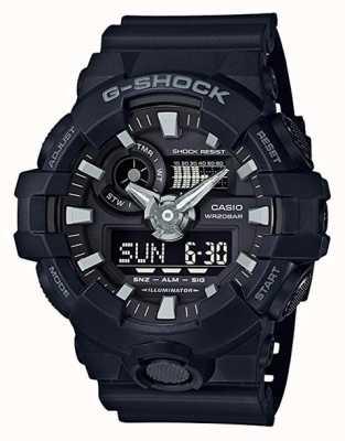 Casio Cronógrafo de alarma negro g-shock para hombre GA-700-1BER