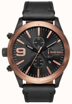 Diesel Reloj raster Chronos Rose Gold / Black de rasterones negros DZ4445