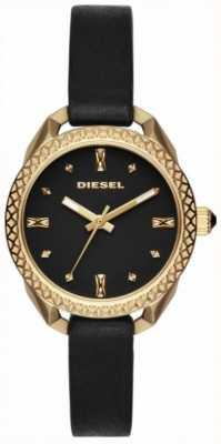 Diesel Reloj mujer negro y dorado DZ5547