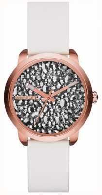 Diesel Ladies flare series blanco / reloj de piedra DZ5551