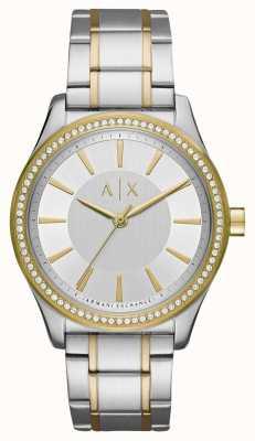 Armani Exchange Ladies nicolette reloj de dos tonos AX5446