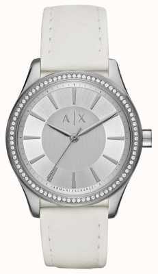 Armani Exchange Ladies nicolette reloj correa blanca AX5445