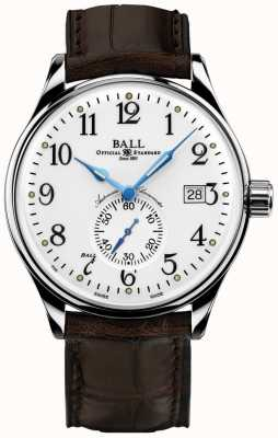 Ball Watch Company Cronómetro de tiempo estándar de trainmaster para hombre NM3888D-LL1CJ-WH
