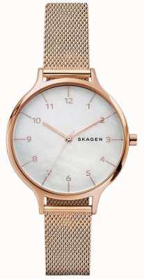 Skagen Brazalete de acero inoxidable de oro rosa anita rosa mujer SKW2633
