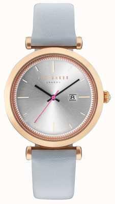 Ted Baker Reloj gris de la caja del oro del ava 36m m de Womans TE10031520