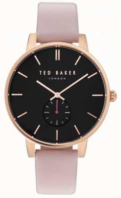 Ted Baker Womans olivia 40mm caja de oro rosa correa de cuero rosa TE10031538