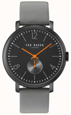 Ted Baker Hombre oliver 42mm gris correa caso negro TE10031517