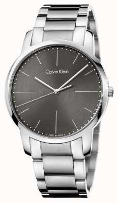 Calvin Klein Hombres de la ciudad de acero inoxidable pulsera gris dial K2G2G1Z3