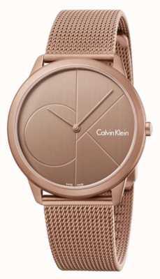 Calvin Klein Pulsera de malla metálica de acero inoxidable K3M11TFK