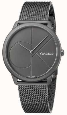 Calvin Klein Pulsera de malla gris minimalista de acero inoxidable para hombre K3M517P4