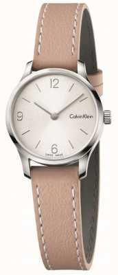Calvin Klein Correa de cuero sin fin de la mujer de la correa blanca de Womans K7V231Z6