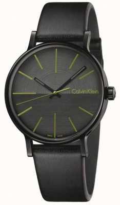Calvin Klein Hombres aumentar los índices de cuero negro verde K7Y214CL