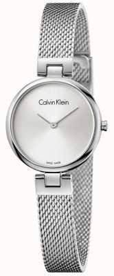 Calvin Klein Womans auténtico acero inoxidable malla pulsera plata dial K8G23126