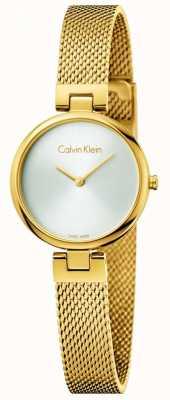 Calvin Klein Brazalete de acero de pvd chapado en oro auténtico pvd mujer K8G23526