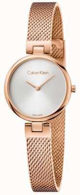 Calvin Klein Pvd auténtico de la mujer pirateó la pulsera rosada del acoplamiento del oro K8G23626