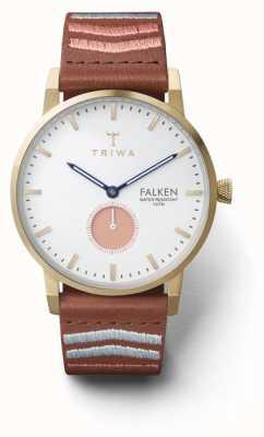 Triwa Unisex coral falken bordado marrón clásico FAST113-CL070213