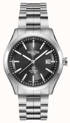 Roamer Rd100 automático | pulsera de acero inoxidable | esfera negra 951660-41-55-90