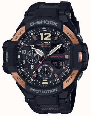 Casio Reloj maestro de gravedad para aviador g-shock para hombres ga-1100rg-1adr GA-1100RG-1AER