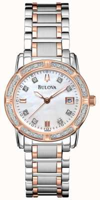 Bulova Pulsera de acero inoxidable 98R199