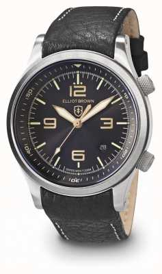 Elliot Brown Hombres canford negro y oro de acero inoxidable 202-021-L17